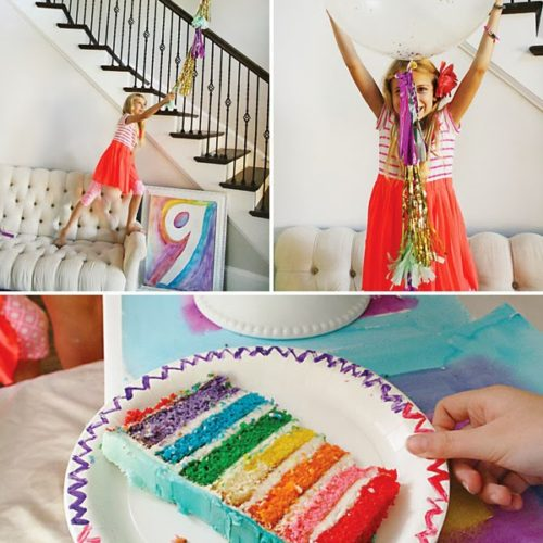 Rainbow Painting Party