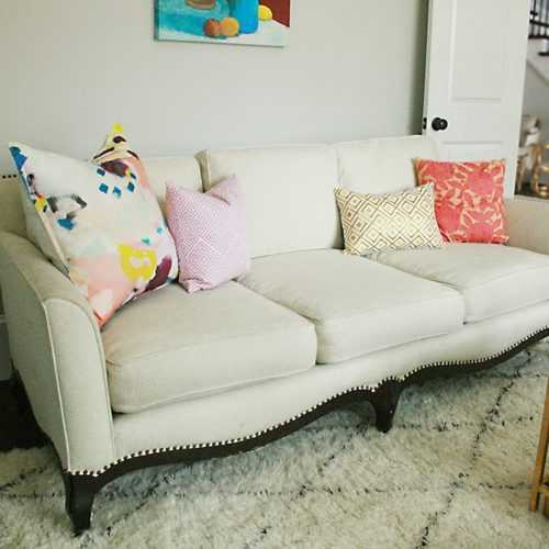 Before + After: White Sofa