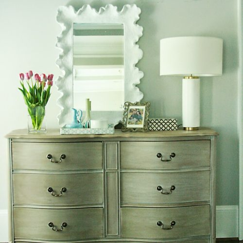 Vintage Dresser Re-do with a touch of Modern