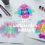 DIY: Watercolor Inkblot Artwork