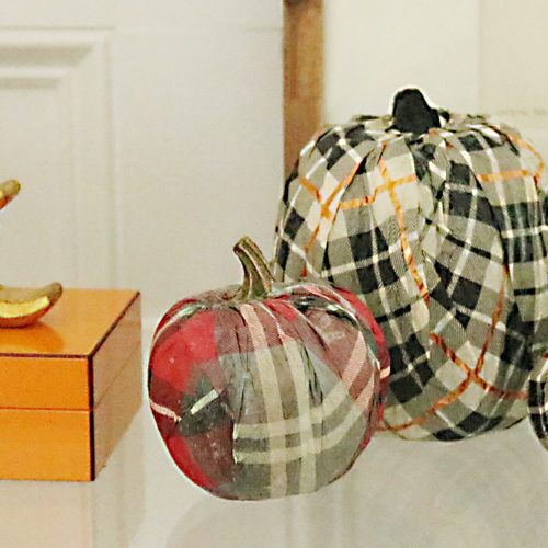 DIY Pumpkin Decorating Idea: Cover it with Tissue Paper