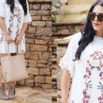 White Boho Dress with Boots