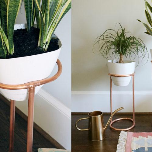 DIY Copper Round Plant Stand