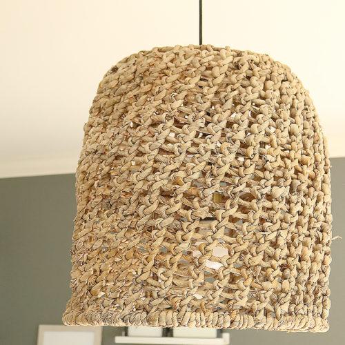 DIY Basket Light Pendant