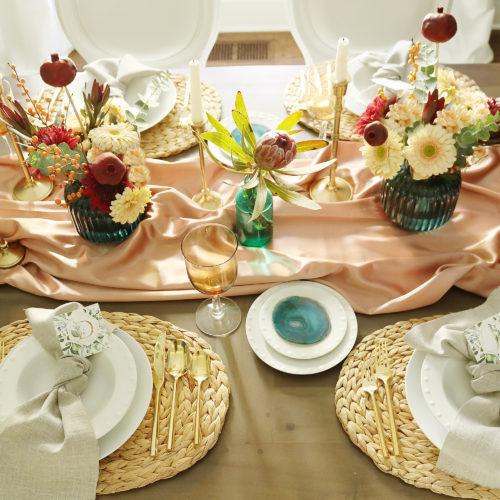 Elegant + Moody Thanksgiving Table Setting