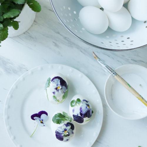 DIY Flower Easter egg