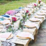 Bohemian backyard Dinner Party
