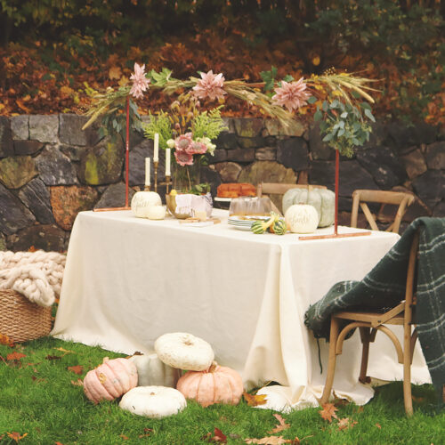 Outdoor Thanksgiving Table