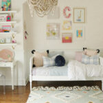 Light Blue pink Girls Bedroom