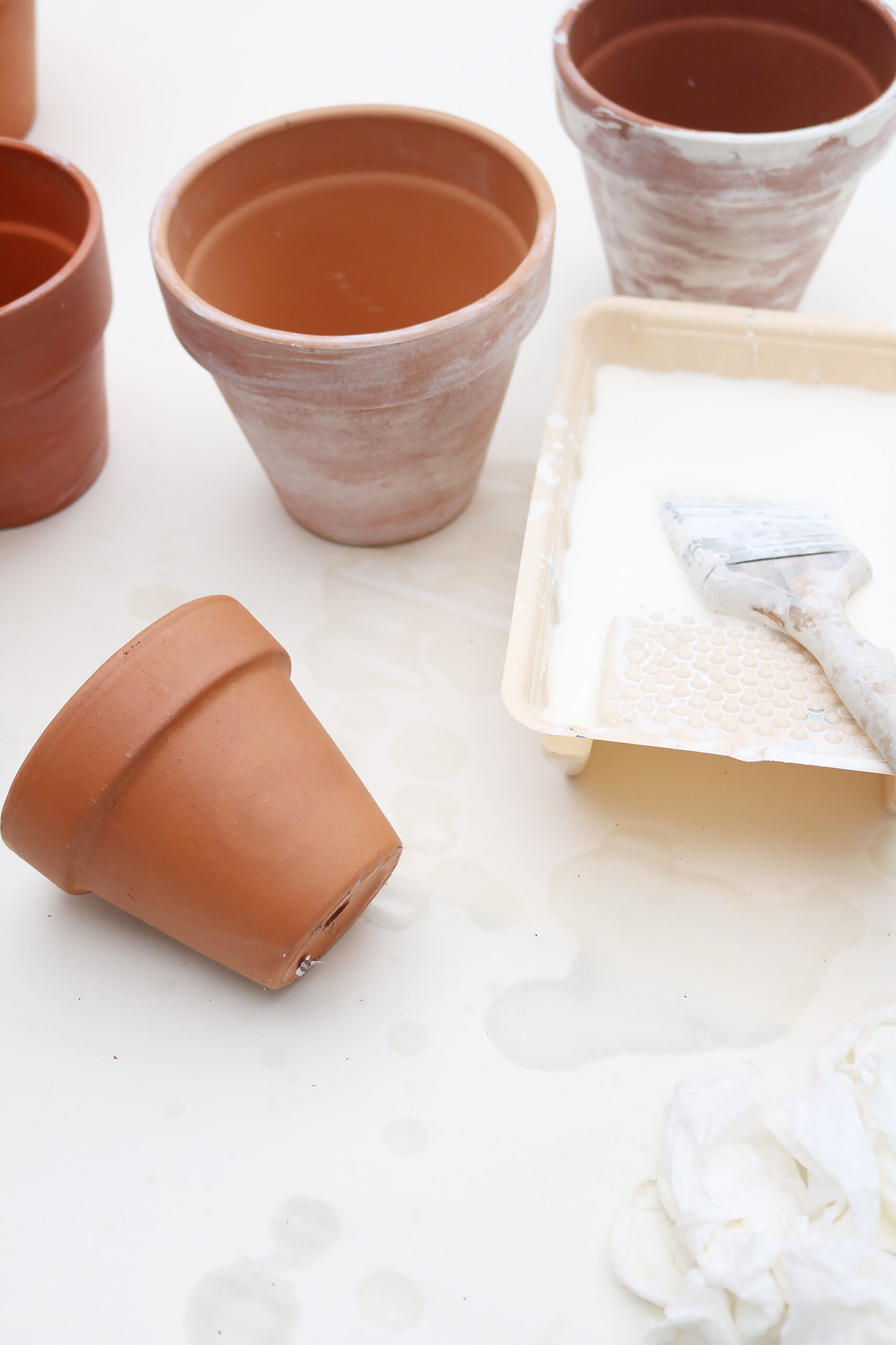 Quick and Easy 10- Minute DIY White Washed Terra Cotta Pots for your fall porch decor || Darling Darleen Top Lifestyle Blogger